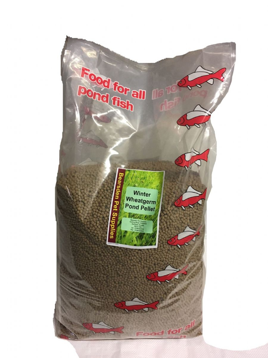 Winter wheatgerm pond pellets